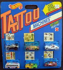 1993 Hot Wheels TATTOO MACHINES 6-Pack - Sting Rod-BMW 323-Road Pirate + MINT