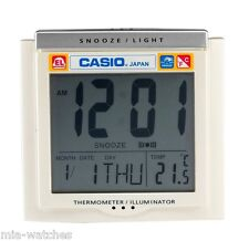 Casio DQ-750F-7D Digital Alarm Clock - Thermometer Snooze Calendar DQ-750 White
