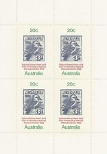 Australia National Stamp Week 50th Anniversary Mini Sheet of 4 Stamps