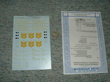 Microscale decals HO 87-718 Canadian Wheat Board 4 bay cylind. grain hopper D133