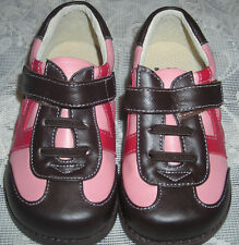 NIB See Kai Run Girls Pink Brown Red K-Trainers Casual Shoes US 4 Euro 20