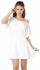 4071 White Formal Ball Prom Party Bridesmaid Cocktail Short Mini Gown Dress S M