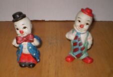 TWO VINTAGE FOUR INCH CLOWN FIGURINES