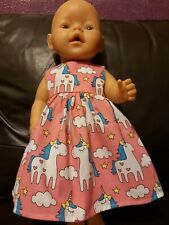 "New 17"" unicorn HANDMADE  DOLLS CLOTHES WILL FIT BABYBORN/ANABELL"