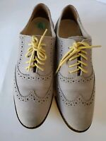 Cole Haan Gramercy Wingtip Oxford Gray suede D39395 Shoes Women's 5.5 M