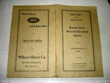 1930 PLEASANT GROVE METHODIST PROTESTANT CHURCH Thomasville NC History