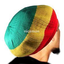 3 Tone RGY Rasta Dread Tam Cap Crown Reggae Marley Roots Reggae Dubwise M/L