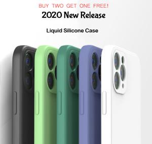 For iPhone 12 Pro Max / 12 Pro 12 Mini /11 678 SE X XS XR Silicone Case Cover