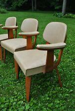 MCM Rare Vintage Thonet Bentwood Tan Arm Chairs (set 4)
