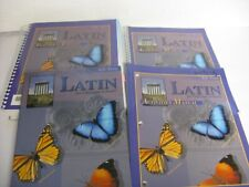 4 PC. BJU PRESS LATIN FOR CHRISTIAN SCHOOLS, STUDENT/PARENT COMPLETE SET-Reduced