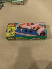 Genuine Brio Sweden Wooden Train Railway 33376 Ferry with Striped Smokestack