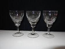 3 Vintage Kristall Weinglas Strahlen Schliff Weißweinglas 60er Jahre Glas