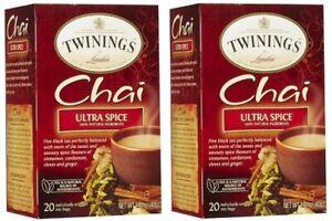 Twinings Of London Chai Ultra Spice Tea 2 Box Pack