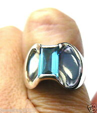 James Avery Blue Topaz Monaco Ring Sterling Silver Vintage~ Beautiful Ring!