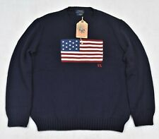 Ralph Lauren Flag Sweater Polo Iconic American Flag Size M Medium NWT $248