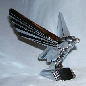 Retro CHROMEPLATED Eagle bonnet mascot (would suit a JUDGE DREDD film lover!!!)