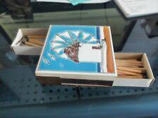 Vintage  Holland   Seaside   Windmill   Tile Matchbox  Match Holder