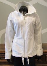 COLUMBIA White Cotton Blend Full Zip Jacket - Small