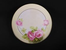 Beautiful Roses Bavarian German Hand Painted Large Plate Charger Artist Signed