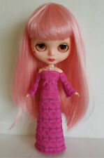 BLYTHE DOLL CLOTHES Pink Gown and Jewelry Handmade Fashion NO DOLL dolls4emma