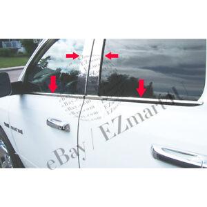 Fits 2009-2017 Dodge RAM 1500 Steel Pillar Post+Window Sill Combo Crew/Mega Cab