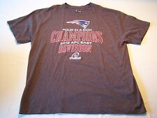 """NFL Team Apparel New England Patriots """"Four In a Row 2012 Champion"""" Mens Size XL"""