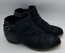 Women's Clarks Cloud Steppers Soft Comfort Black Suede Ankle Boot Size 8 W