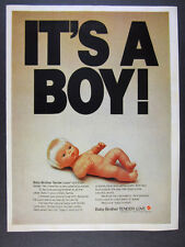 1976 Mattel Baby Brother Tender Love doll 'It's a Boy' vintage print Ad