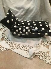 SWAK Lynda Corneille Signed Polka Dots Black White Chaise Lounge