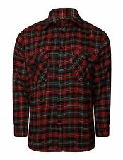 NEW FLANNEL BRUSHED COTTON MENS SHIRT LUMBERJACK CHECK LONG SLEEVE WORK SHIRTS