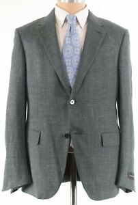 Ermenegildo Zegna NWT Sport Coat 52 42R Green Cashmere/Silk Milano Easy $2,995