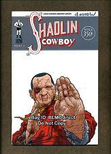 2005 Shaolin Cowboy #4 Variant Signed Burlyman Geoffrey Darrow Burlyman Geoff