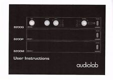AUDIOLAB user manual manuale per 8200 Q