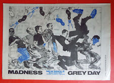 MADNESS GREY DAY SINGLE POSTER ADVERT CUTTING NME 1981 A3 FULL PAGE 2 TONE STIFF