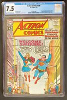 Action Comics #285 CGC 7.5 DC Comics 1962 Supergirl Legion of Super-Heroes