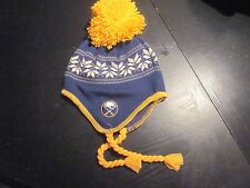 Buffalo Sabres SKI CAP HAT with braids- NWT