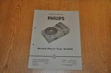 Philips AG 4049 Record Player Workshop service manual AG4049 .