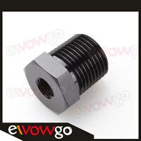 1/4'' NPT Male to 1/8'' NPT Female Aluminum Adapter Adaptor Fitting Black