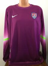 Nike USA Soccer Player Goalkeeper Jersey Purple Dri-FIT Mens Size 2XL 578659-550