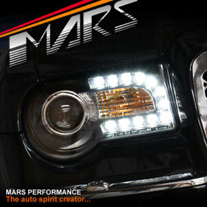 New 13 looking Black LED DRL Projector Head Lights for CHRYSLER 300C 05-12