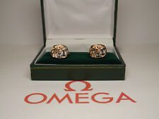 Vintage Omega Watch Movement: Cufflinks.Cal 484 on SOLID SILVER base. Dated 1969