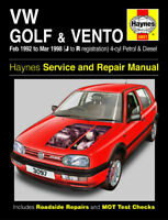 3097 Haynes VW Golf and Vento (Feb 1992 - Mar 1998) J to R Workshop Manual