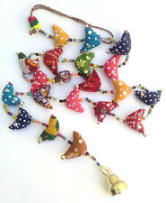 Chime decoration colourful door hanger Indian bird chicken bell ethnic hippy