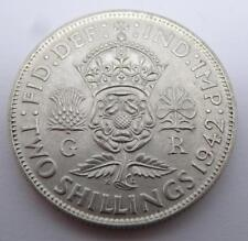 ***1942 .500 SILVER TWO SHILLINGS GEORGE VI COIN (325)***