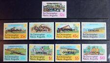 St Kitts-Nevis Anguilla – 1980 Officials Set (9) – UMM (MNH) (R8)