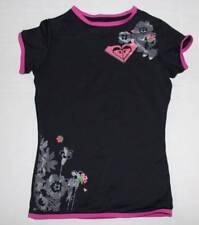 ROXY Girls Swim Cover Rash Guard Shirt Top Pink Black 8 UV Tech