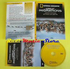 DVD film VIVE SOLO CHI SI MUOVE ATTO National Geographic GREAT MIGRATIONS no vhs