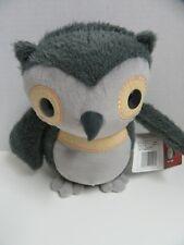 "Kohls Cares Plush Grey Owl Aesops Fables Stuffed Animal Toy 10"""
