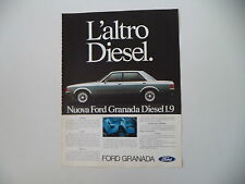 advertising Pubblicità 1978 FORD GRANADA DIESEL