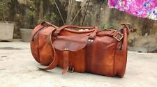 Antique Style New Leather Duffle Bag Overnight Weekend Bag Gym Sports Cabin Bag